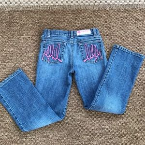 Lilly Pulitzer girl jeans